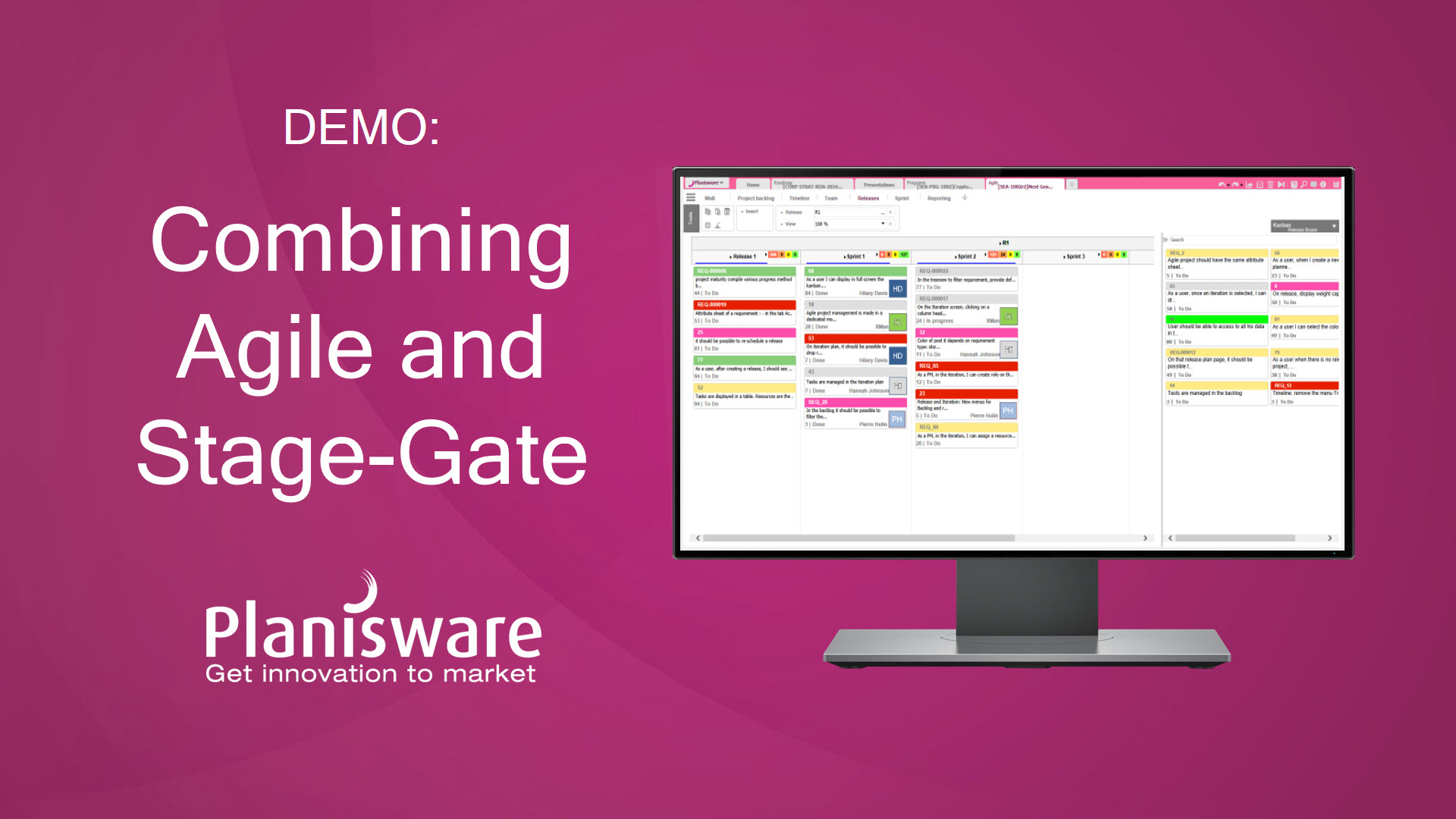 Planisware Demo Combining Agile And Stage Gate For New