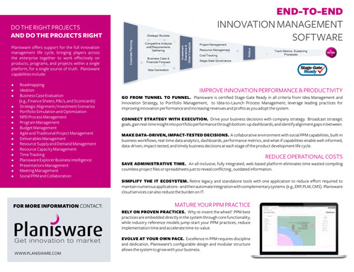 Brochure Product Overview  Planisware