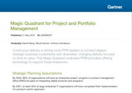 Gartner PPM Magic Quadrant 2019 study